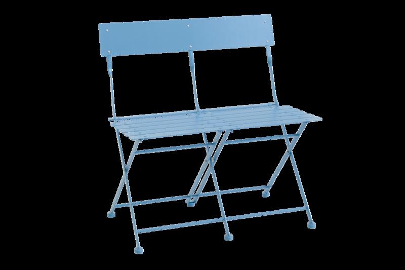 Arno cafésoffa hopfällbar blå