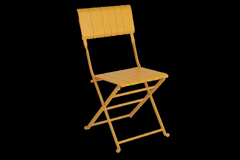 Bradano stol fällbar gul