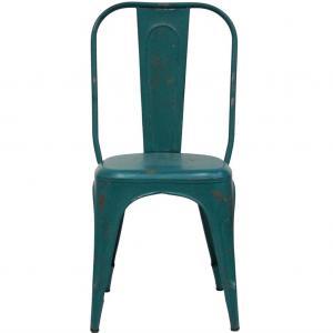LIVING stol med hög rygg - turkosblått