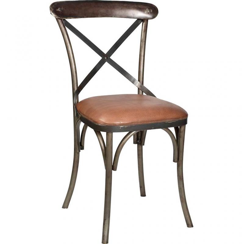 Bistro matbord stol med lädersäte