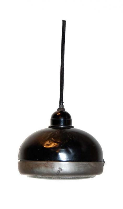 Samos hänglampa av gammal traktorljus - svart