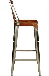 Copenhagen barstol - blank med läder