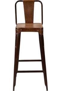 Copenhagen barstol - rost med läder