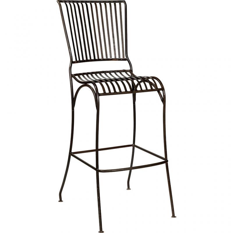 Provence barstol med ryggstöd