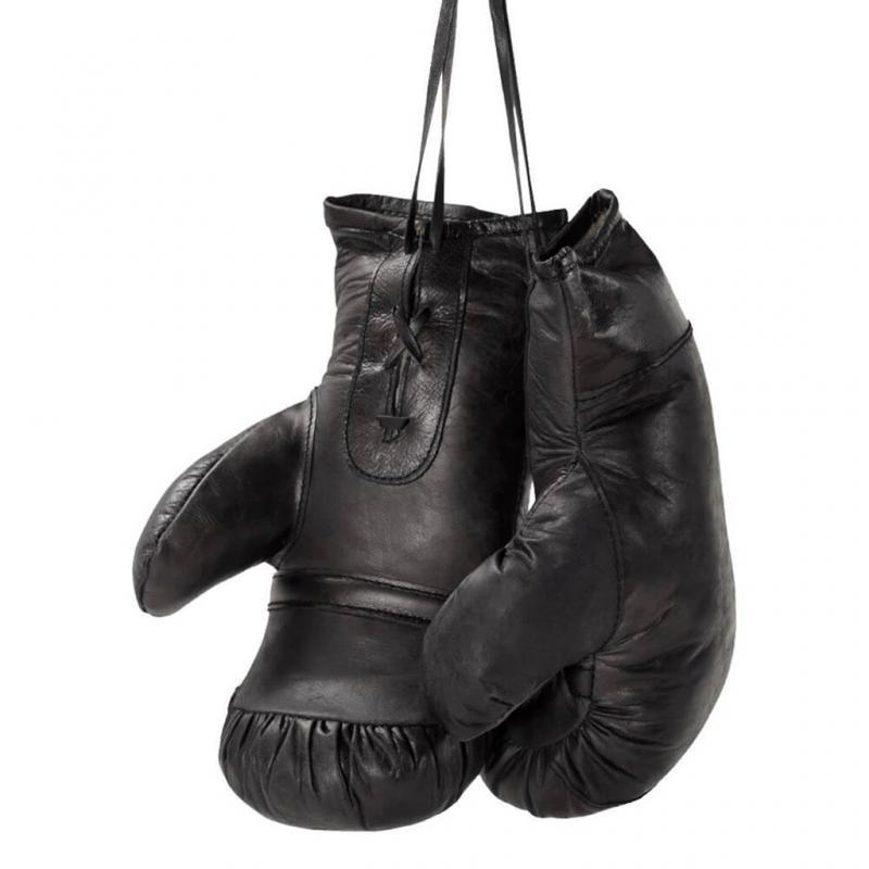 Boxhandskar med ett rått uttryck - svart