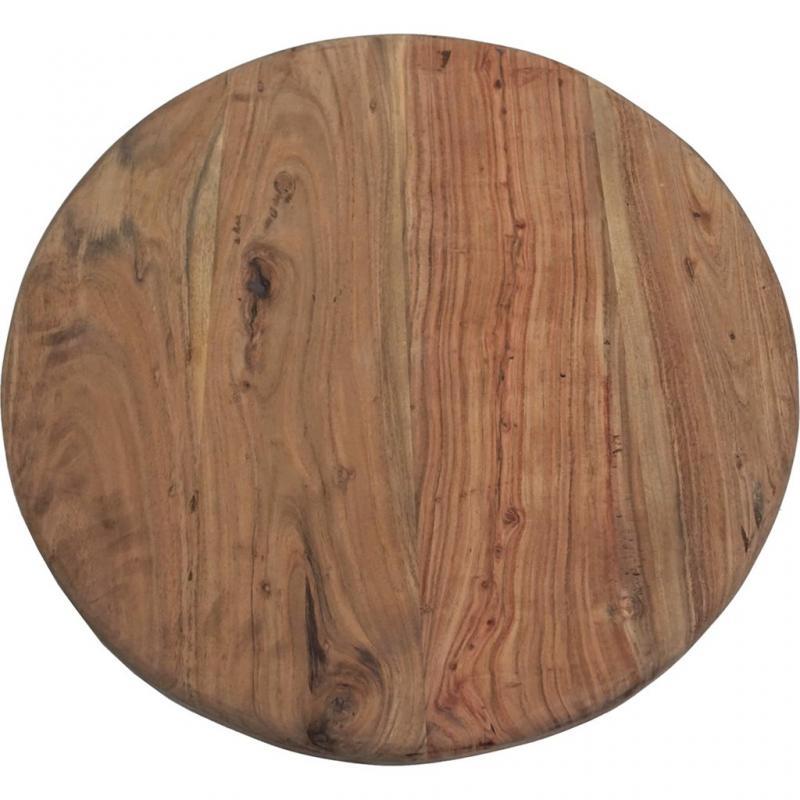 Sinan massiv bordsskiva i rustikt trä - Ø70 cm