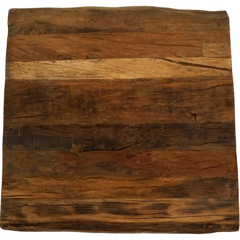 Bullock bordsskiva i rustikt trä - fyrkantig