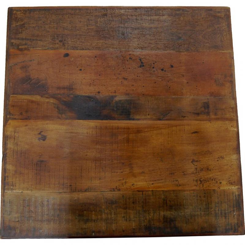 Amadeus bordsskiva av återvunnet trä 70 x 70 cm