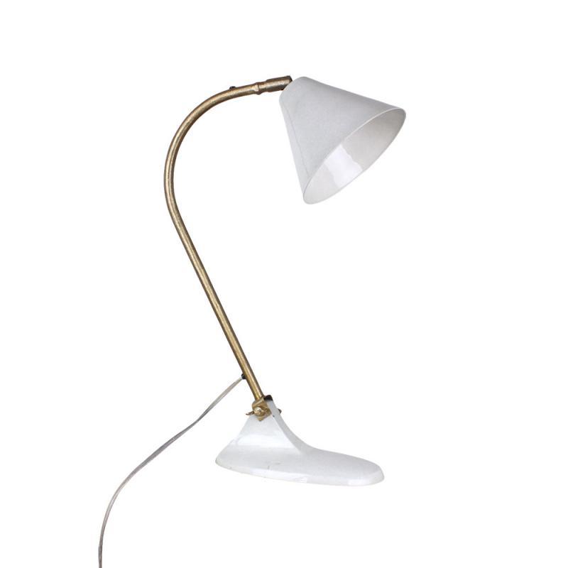 Bordslampa ingrid antik vit