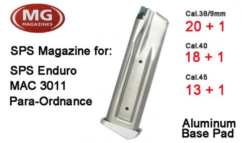 High Cap 2011 Enduro/Para Ordnance Alu basepad Magazine (Double Stack)