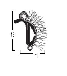 SKRAPLIST YM197P stel 240 cm