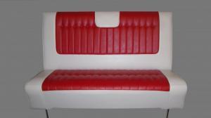 Nostalgisoffa Cadillac 1959 röd/vit