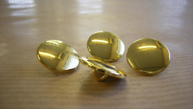 Knapp Klädsel  Guld 5 st/Pack