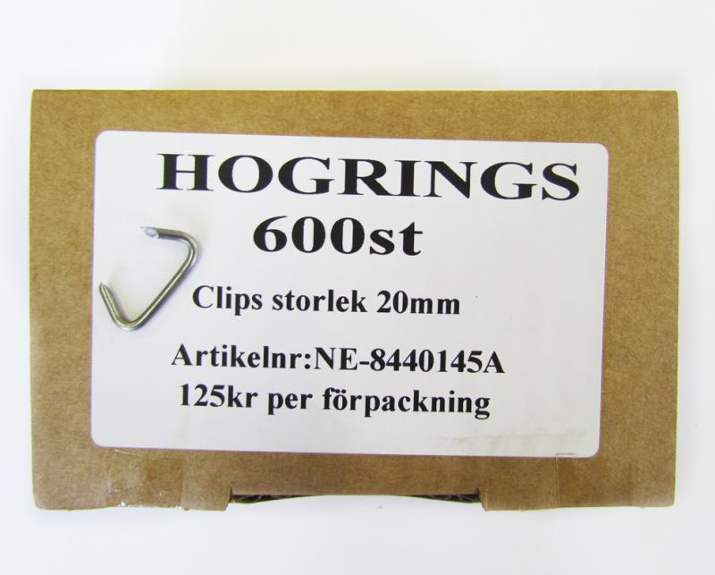 Hogrings 20 mm (600 Styck)