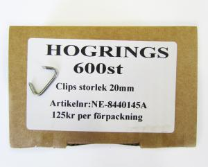 Hogrings 20 mm (600-Pack)