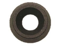 Svart plast bricka  4 mm