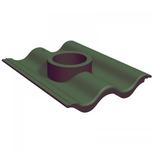 Benders Betongdel tll avlopp/genomföring Benderit grön - 050123
