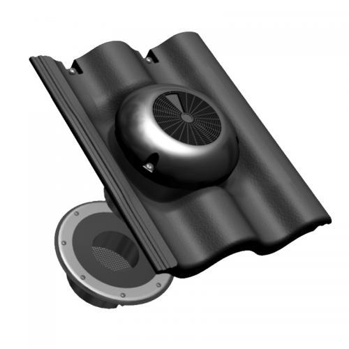Benders Loft-Luft vindventilator 2-kupig svart - 051920