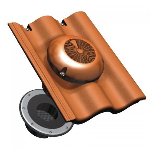 Benders Loft-Luft vindsventilator 2-kupig tegelröd - 051924