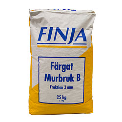 MURBRUK B GRAFITGRÅ 0-3MM 40X25KG