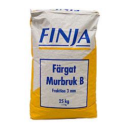 MURBRUK B VITGRÅ 0-3MM 40X25KG