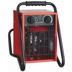 Värmefläkt, Byggfläkt Stativ 2KW, 230V, RÖD, IP44 Bygg-ström