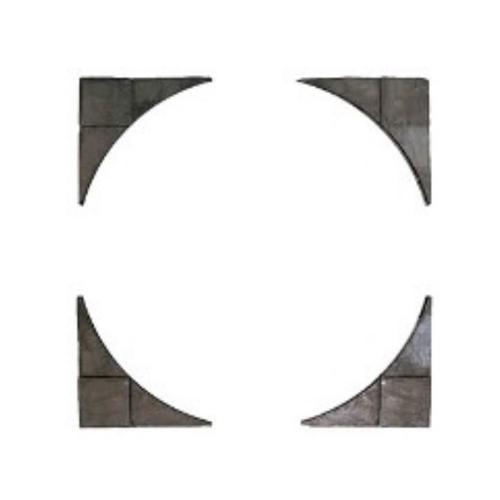 Bradstone Wetherdale Cirkel Stor Yttre kvadrat, 3,3m Sable Grey, Starka 1604439
