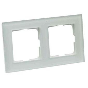 Elko Plus Option Ram 2Fack Glas Vit