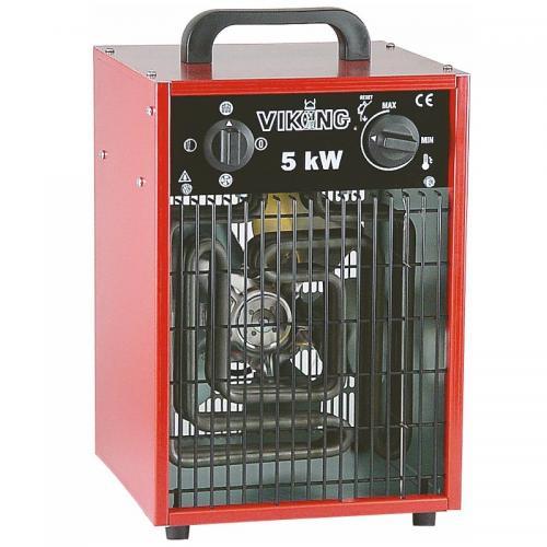 Värmefläkt, Byggfläkt 5KW, 400V, IP44 Bygg-ström