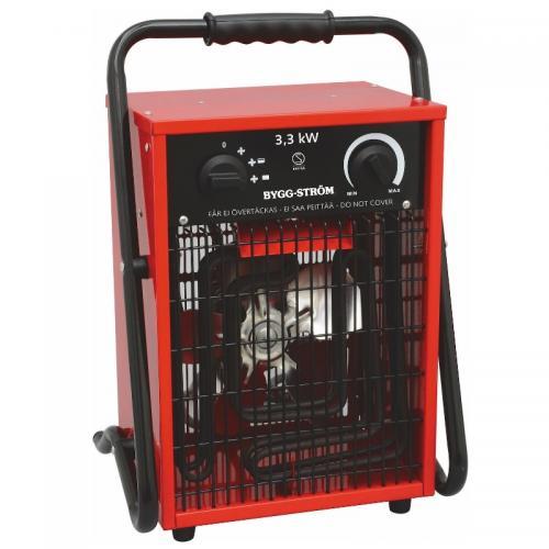 Värmefläkt, Byggfläkt, 3,3kW 230V, RÖD, IP44