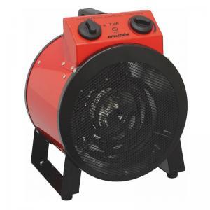 Värmefläkt, Byggfläkt Rund 2KW, 230V, RÖD, IP44