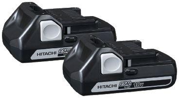 Batteripaket 18V BSL 1825 Hitachi 2 Slide Batterier 2,5Ah