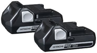 Batteripaket 18V BSL 1825 Hitachi 2 Slide Batterier 2,5Ah