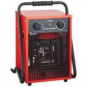 Värmefläkt, Byggfläkt Stativ 5KW, 400V, RÖD, IP44 Bygg-ström