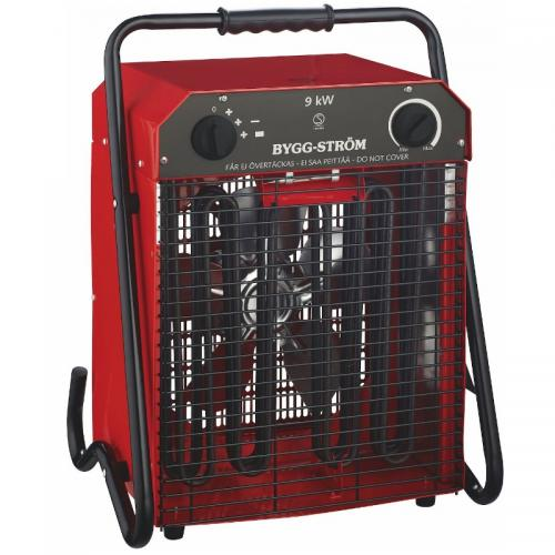 Heating fan, Construction Fan Stand, 9KW, 400V, RED, IP44
