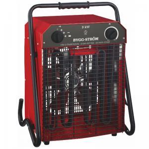 Värmefläkt, Byggfläkt Stativ 9KW, 400V, RÖD, IP44 Bygg-ström