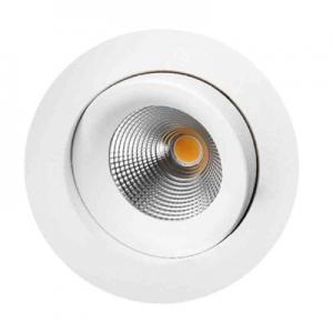 Downlight LED, warmdim, 9 W, IP44, roterbar 360°