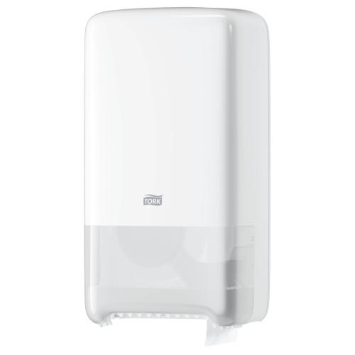 Dispenser toalettpapper T6 Mid-size Twin Tork Vit