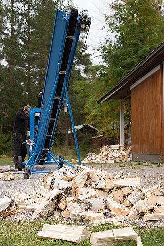 Per Wikstrand PW Vedtransportör 5M Inkl. Hjul och Vinsch 3 Fas
