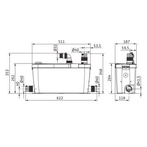 AVLOPPSPUMP HIDRAINLIFT 3-37