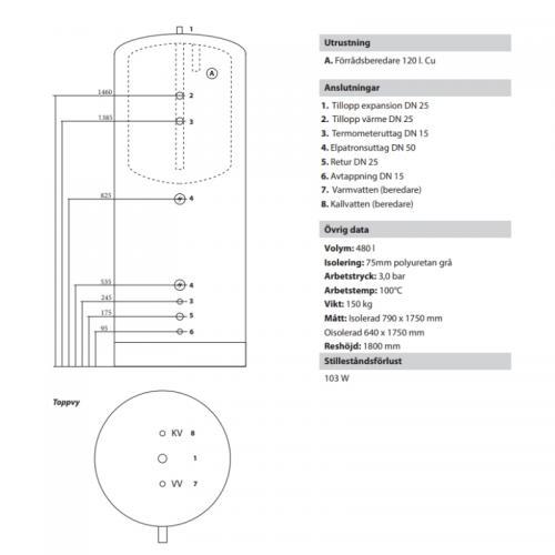 ACKUMULATORTANK TS500/120 L. BER