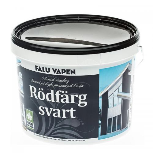 Fasadfärg Slamfärg Svart Kokt 10 Liter, Faluvapen