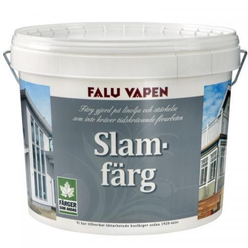 Fasadfärg Slamfärg Helmatt Ljusgrå 10L, Faluvapen