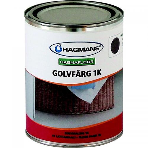 Golvfärg Hagmans 1K Mellangrå 002 1L