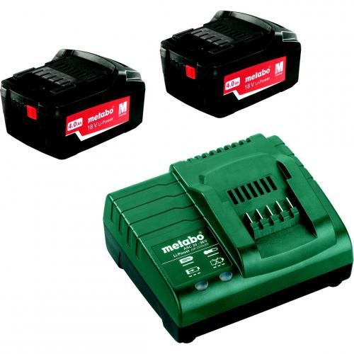 Laddare och Batterier BAS-SET 2X4,0AH Metabo