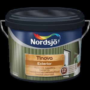 Fasadfärg Tinova Exterior Nordsjö Röd 1L