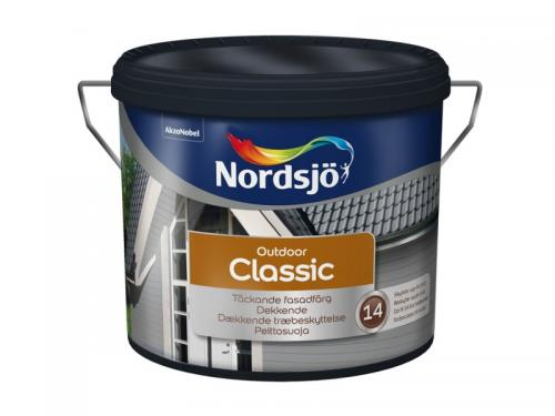 Fasadfärg Classic, 10 l Svart, Nordsjö
