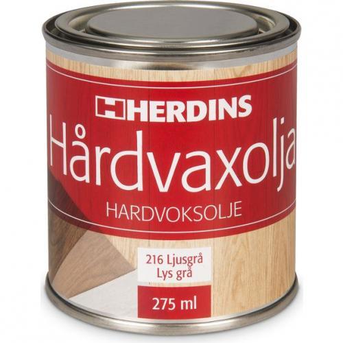 Hårdvaxolja Pigmenterad Ljusgrå Herdins 0,275 L