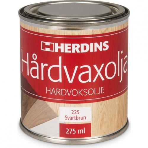 Hårdvaxolja Pigmenterad Svartbrun Herdins 0,275 L