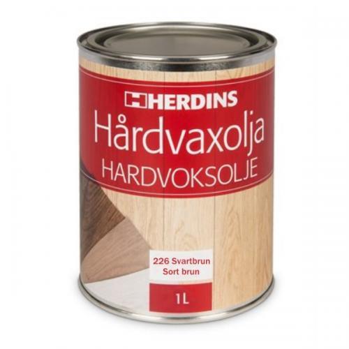 Hårdvaxolja Pigmenterad Svartbrun Herdins 1L